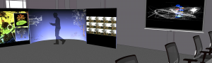 Image of multiple display systems for xREZ lab.