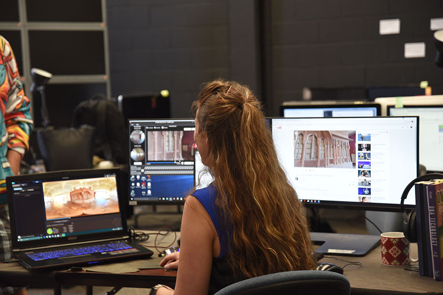 Brittany working at computer 2